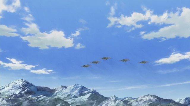 GATE 自衛隊 彼の地にて、斯く戦えり23話の第一空挺団降下シーン‼️ここは、アニメ界に名を残す名シーン。着地の瞬間も