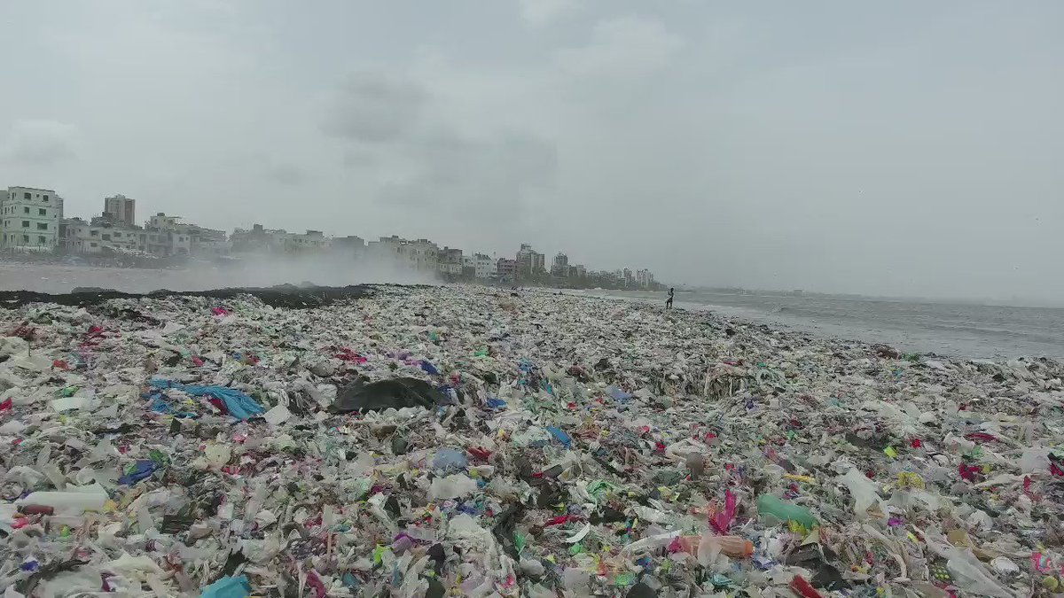 Today we will clean this beach in Mumbai. And we will not stop until it is pristine. https://t.co/m1LqXeinzX