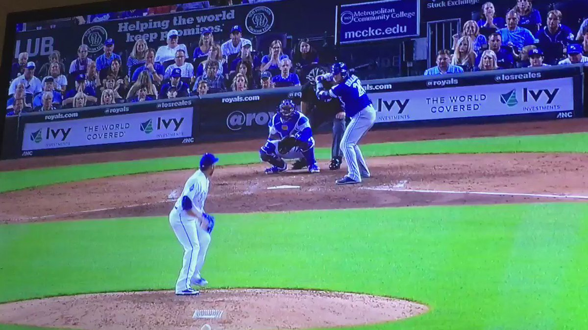 Meanwhile Josh Donaldson is somehow walking to first base after this.