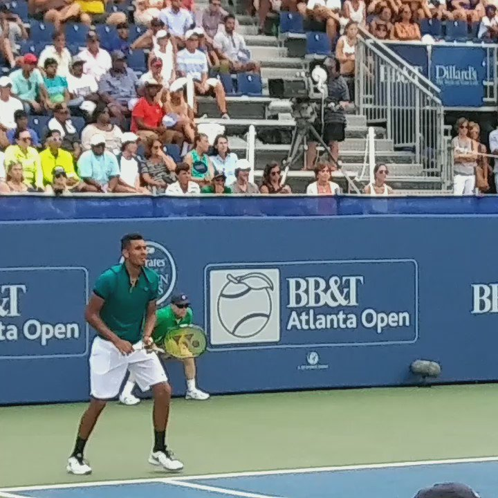 And we have a new champ! @NickKyrgios takes the 2016 BB&T Atlanta Open crown with a 7-6, 7-6 win over #Isner https://t.co/Jp5OSpWBKE