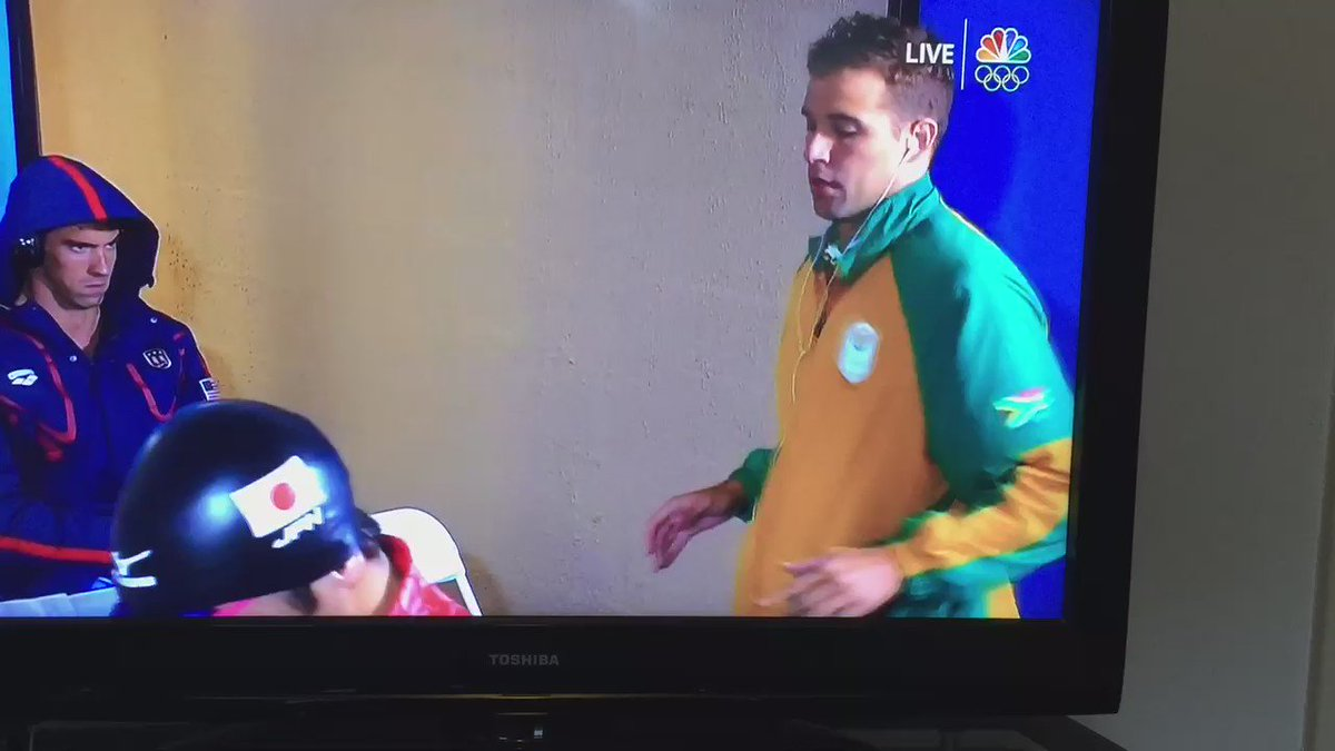 That Michael Phelps game face deserves its own gold medal