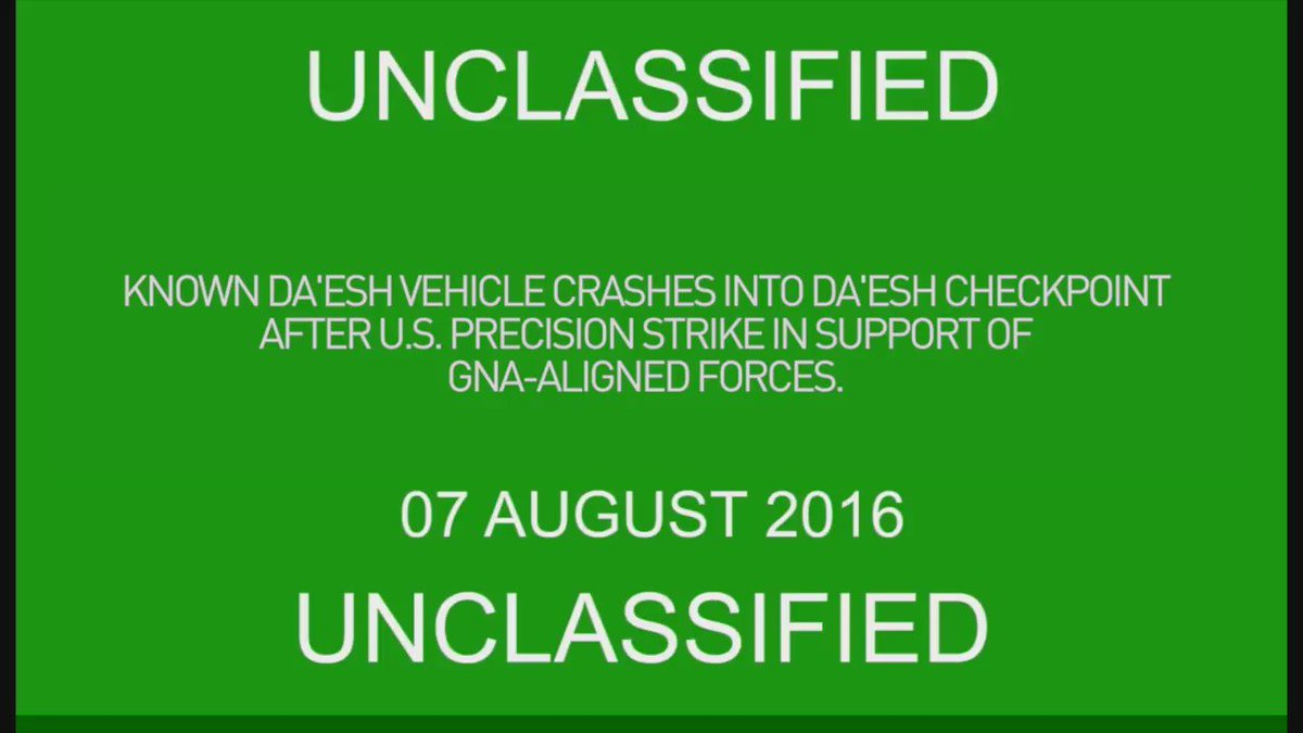 U.S. Airstrikes in Support of GNA: Aug. 10; New Airstrike Video Released - https://t.co/vLICbtkziB #Libya https://t.co/lfEQUDnUvu