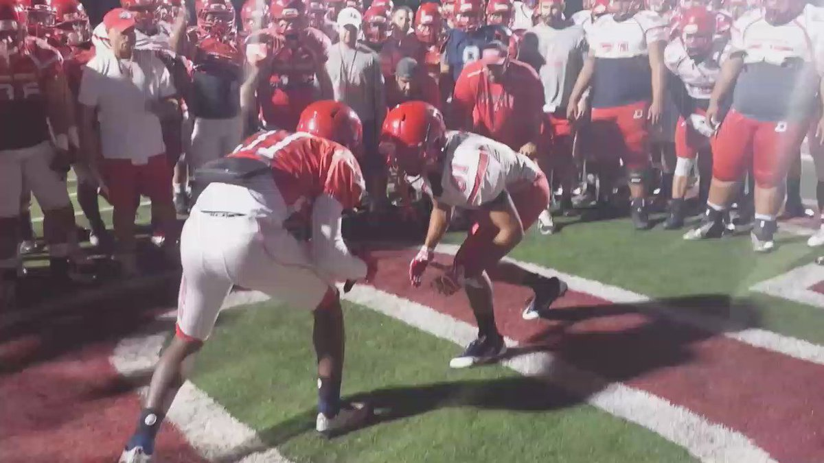 FB: First day of full pads at @dixiestate_fb fall camp! #DixieBlazers #RMACFB https://t.co/oiIPh5ufqW