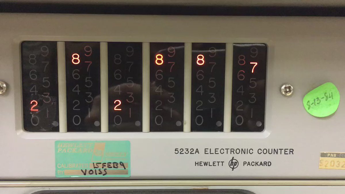 Electronic counter at the museum of communications in Seattle. https://t.co/dPtcA93G4c