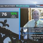 #BatonRouge QuickCast: Wetter than TUES .. typical August heat & humidity, feels like 100°+. #LAwx #BTRwx #GoBR https://t.co/Y17CFzIrIi