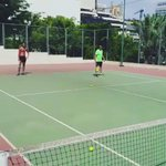 Best time. Tennis time with my son Khaled  and  my tennis trainer rabih hassoun and adham bou hassoun 🎾🎾  #Tennis https://t.co/reUEtKWpvt