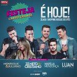 É hj Campo Grande!!! Hoje tem 4 mega shows pra vcs no #FestejaCampoGrande! Vem cantar e se divertir com a gente!!! https://t.co/ID7sLtTlVM