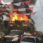 Incendio en fábrica de plásticos colonia Santa Cecilia. Ya trabajan bomberos y protección civil. https://t.co/lrOJSvMwnF