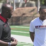 From one 🐐 to another, see @marshallfaulk and Donnel Pumphrey on #AztecFB with Rocky Long at 9pm on @FOXSportsSD. https://t.co/gt43X7QIC2