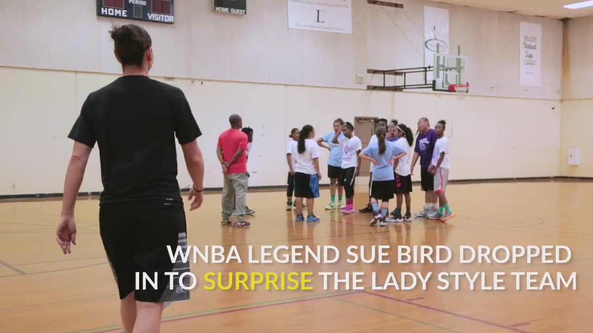 Watch what happens when WNBA star @S10Bird surprises a local girls' team https://t.co/OEmUdmqEAR #WeAreBECU https://t.co/E7hrxcdAbD