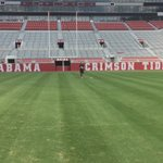 The @UofAlabama football field, flick frisbee field goal from the opposing 20. Best day ever. https://t.co/G1XmOS6QkB