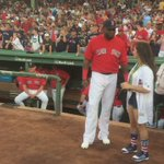 .@Aly_Raisman in the house & outdoing @davidortiz with the bling. 🏅 https://t.co/8bqhlfwNPC