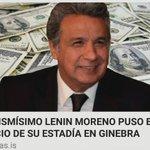 El mismísimo Lenín Moreno pidió más de un $1 millón por año en Ginebra  👉 https://t.co/CF4vmuIQf6 https://t.co/8CNyqnWi1M