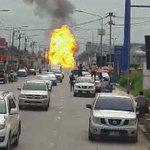 รถบรรทุกแก๊ส ระเบิดถ.หทัยราช หลังคลังลำลูกกา (crภาพคุณอำนาจ) #NationTV https://t.co/60Suw2t4HH