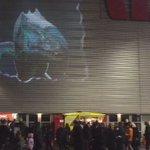 Taniwha v Wallaby on @WestpacStadium wall #GoAllBlacks #NZLvAUS https://t.co/hNrPwkXVtN