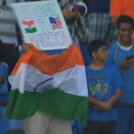 It is the first time the Indian team is playing an international game in USA & fans have arrived in large numbers. https://t.co/Mf1fDIZg3O