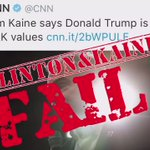 Crooked Hillary now has Kaine & the machine pushing her rhetoric- as she is on vacation, again. They will #FAIL! https://t.co/RTPdLh2MsG