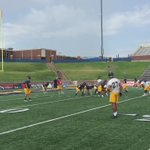 At UCO practice this morning watching QB / @NEWS9 Intern TJ Eckert 5 days from opener. https://t.co/mlLCJOKTEY