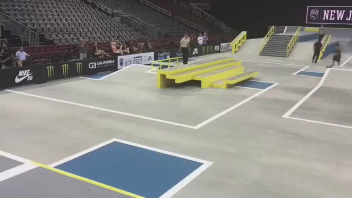 #EvanSmith absolutely killing it during practice today at @sls Nj! Him & @nyjah will be ripping around all weekend