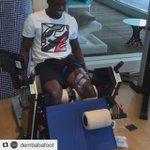 Teranga Lion  🎥  #Senegal striker @DembaBaFoot making steady progress in his recovery from a leg injury.🙌🏿 https://t.co/hypAeN0JSU
