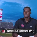 A small sample of my conversation with @Utah_Football QB Troy Williams. You can see it tonight on @kslsports @KSL5TV https://t.co/E77IlQz3nj