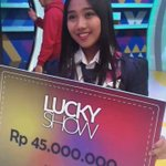 Selamat ya buat Aurel @officialJKT48 udah menangin hadiah 45Juta. Jgn lupa nntn @LuckyShowRCTI besok ya ! https://t.co/6svefYGcxH