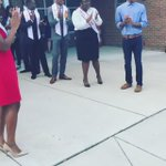How awesome is NCCU royal court making the first day of school fun and welcoming for Fayetteville St. Elementary 👑 https://t.co/kandfXpnKP