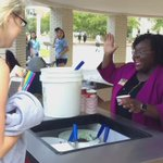 @DeanPBJackson handing out free ice cream at the rotunda NOW! Shell be here until the last scoops! #TrueBlue https://t.co/h9jtxQ1ztc