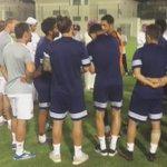 سعادة الشيخ خليفة بن حمد ال ثاني رئيس النادي ،يتحدث فى اللاعبين قبل تدشين التدريبات بالنادي  استعدادا للموسم. https://t.co/GQm1ewlXkh
