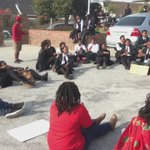 Group of protesting students up in arms over alleged racism at #LawsonBrownHighSchool @AfriNewsAgency https://t.co/DsBPS0PSCu