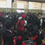 Students in protest are singing in the school hall #LawsonBrownHighSchool @AfriNewsAgency https://t.co/dV3RpqZMCi