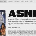 On vous annonce 23 films dun coup ! Film de la Rentrée + #ASNIFF + Absurde Séance + #ZombieWalk... #Nantes #Cinema https://t.co/woRMAwYfmZ