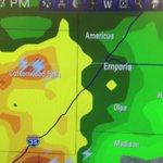Heavy rain along Kansas Turnpike near Emporia. #Wibw #kswx https://t.co/ZSc4rPDfQz