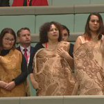 The first Indigenous woman to be elected to the lower house is sung into her seat #indigenous #history https://t.co/JPemSpfiOC