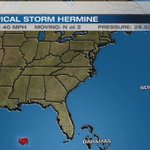 Tropical Storm Hermine has formed in the Gulf. A model shift suggest Saturday may turn wet. https://t.co/F35Zxtp9Qp
