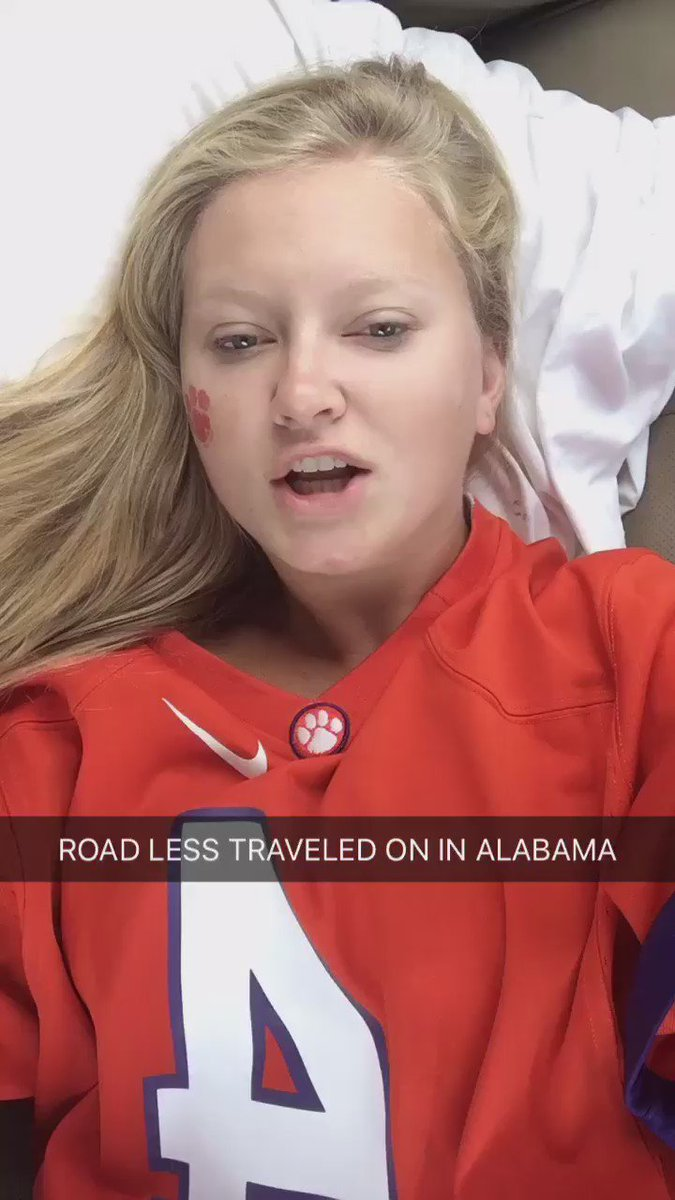 ROAD LESS TRAVELED CAME ON OTW BACK TO CLEMSON @Lauren_Alaina it's everywhere now!!! #postgameday #ignoremyface https://t.co/zdaEI0KXht