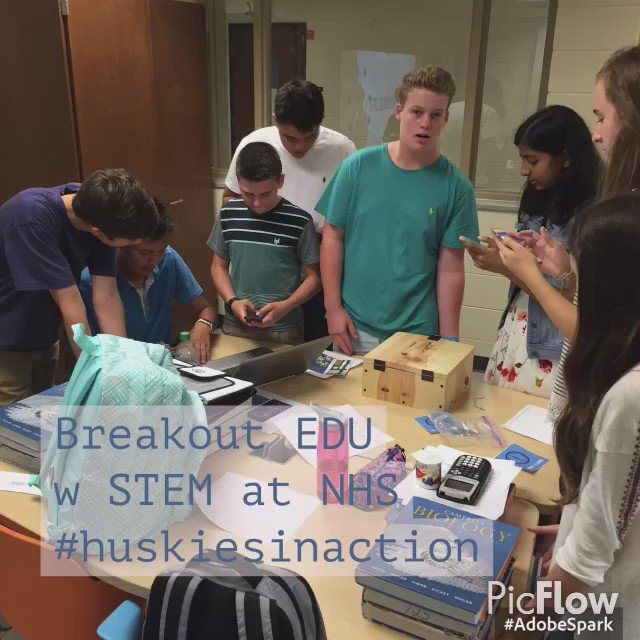 Day 1 of the new year! STEM students are actively problem solving. #BreakoutEdu @breakoutedu @FHNPrincipal @FHPSsupt https://t.co/qKduOfiB4t