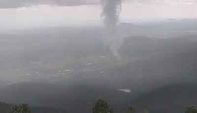 Awesome video of funnel cloud near Williams today from John Storm who was in Bill Williams Fire lookout. https://t.co/vA5ygDhD2M