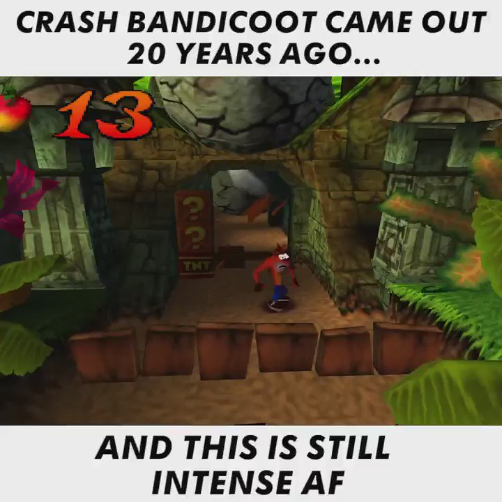 Crash Bandicoot came out 20 years ago today!
