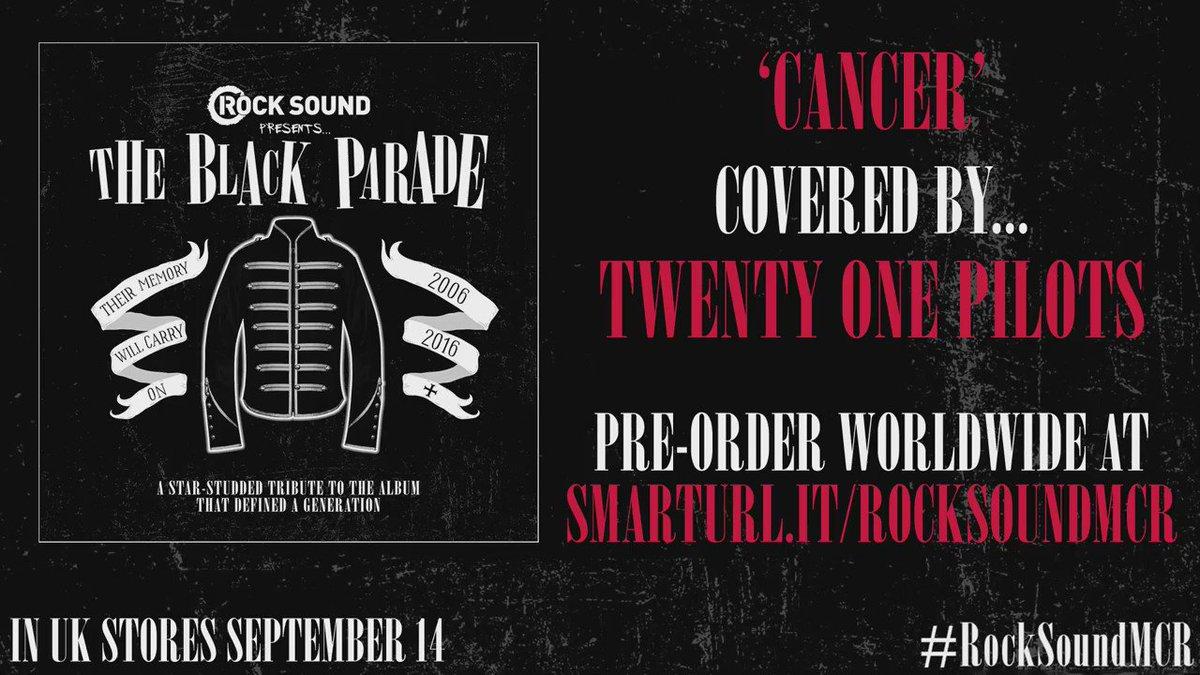 'Cancer' Covered by @twentyonepilots Order the full CD + magazine WORLDWIDE: https://t.co/H9B8saAf2a #RockSoundMCR https://t.co/jsEw1Qz1kr