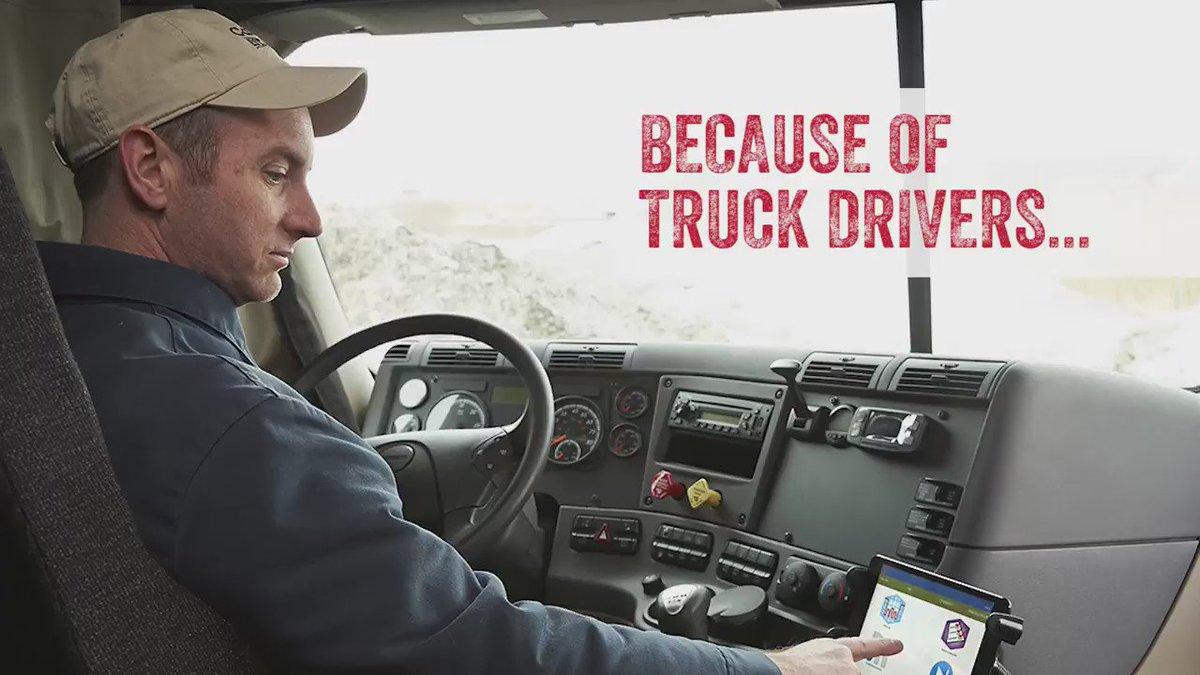 Truck drivers keep America moving. #ThankATruckDriver https://t.co/8NpCCFTMPb