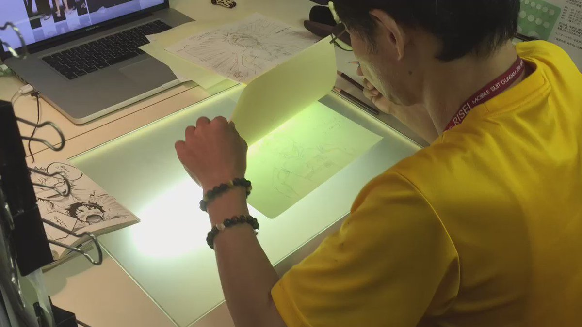 【ALL OUT!!制作現場レポート】キャラクターデザイン筱雅律さんの作画の様子をキャッチ!原作コミックと見比べながら丁