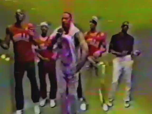"""Check out the 1988 Chicago Bulls performing """"How You Like Me Now"""" by Kool Moe Dee (Peep how MJ boogies! LMAO) https://t.co/R3ed7S2px5"""