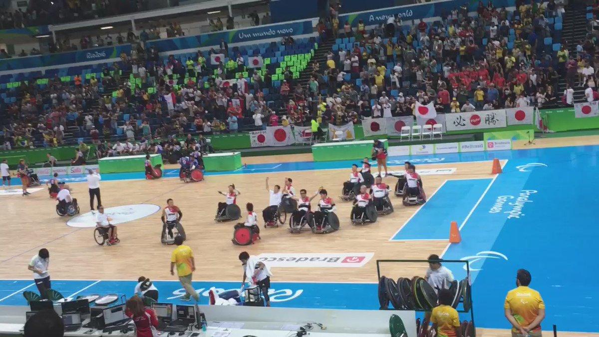車椅子ラグビー 日本チームはフランスに57-52で勝利して2連勝!会場の熱狂と盛り上げ方はさながらNBAでした。 https://t.co/MzxZDxtBaC