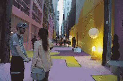 """Say hello to """"AlleyOop"""" a West Hastings laneway @hcma & @downtownvan transformed into public space. #moreawesomenow https://t.co/oLbL0td7Rh"""