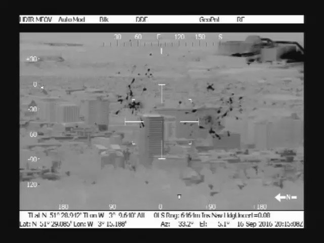on route back from tasking we caught some of #CityOfTheUnexpected fireworks on thermal camera https://t.co/b6B4F2gdsE