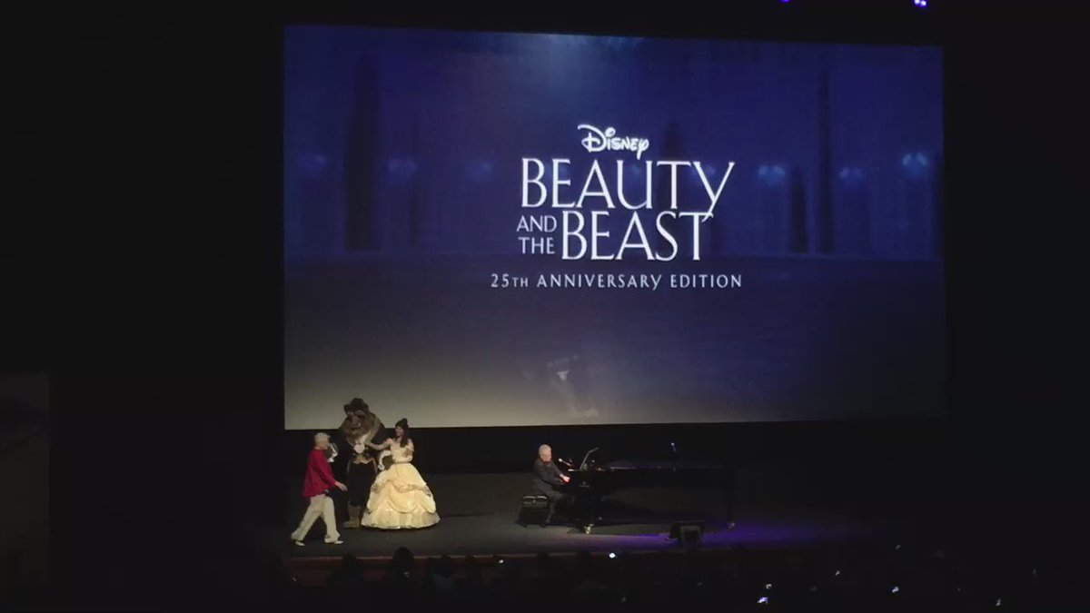"Angela Lansbury surprised the audience of the 25th anniversary screening with ""Beauty and the Beast"""