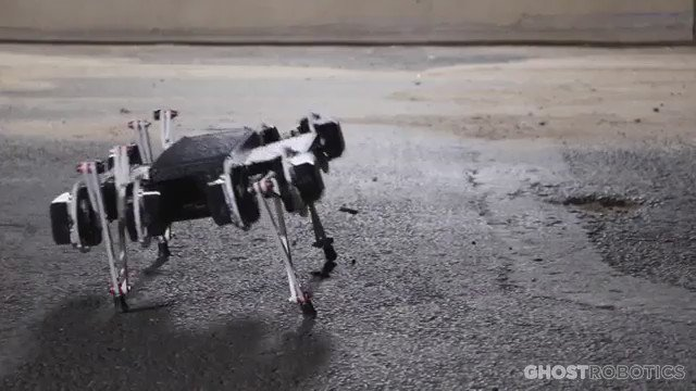 Minitaur Robot by @Ghost_Robotics Conquers Stairs, Doors, Fences, and Is Somehow Affordable https://t.co/InriQYjSAu https://t.co/WVlUNknE67