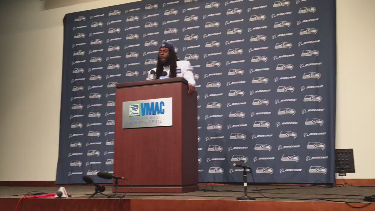 #Seahawks Richard Sherman did not take questions today. Instead made this statement: https://t.co/UudYnm5PTs
