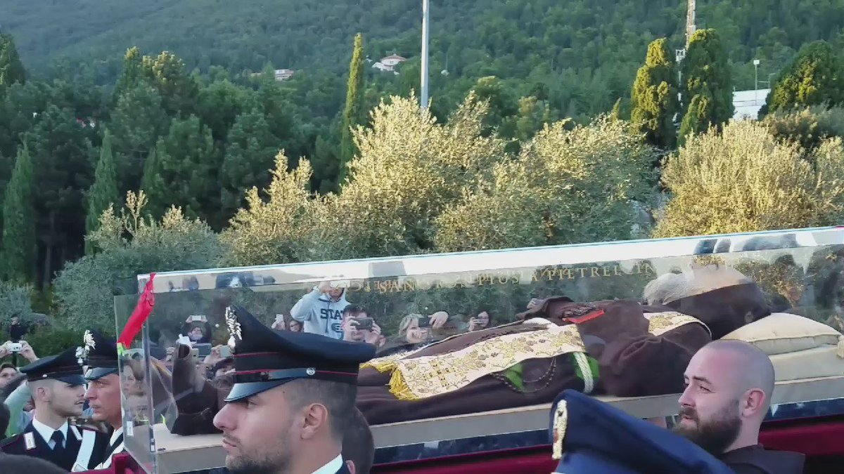 I am at San Giovanni Rotondo celebrating St. Padre Pio's feast day. Pray for us! https://t.co/Qdt6mKicen